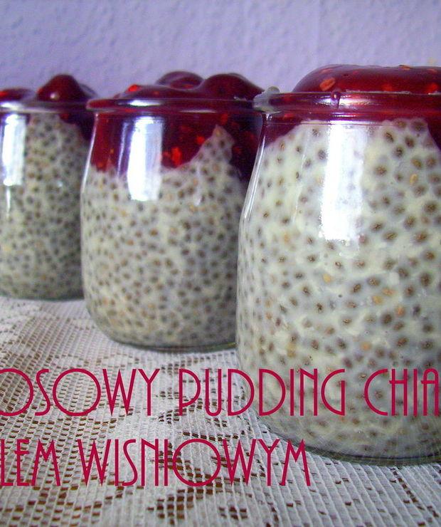 Kokosowy Pudding Chia z kisielem wiśniowym (w 5 minut) - Musli i podobne