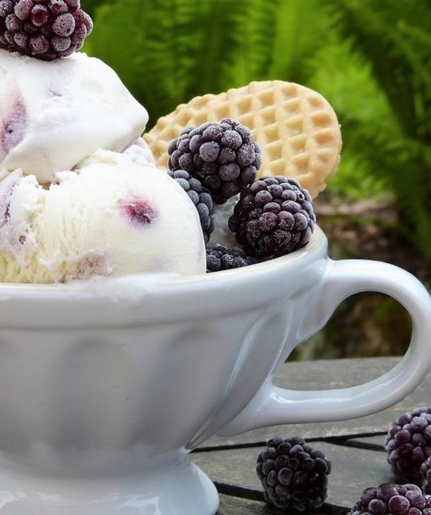 Domowe FIT lody jogurtowe  - Lody