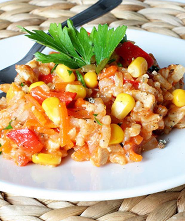 Risotto z kurczakiem danie jednogarnkowe - Dania z ryżu i kaszy