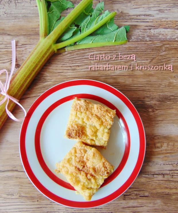 Ciasto z rabarbarem - Kruche