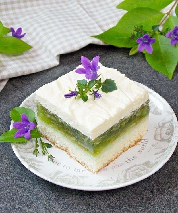 Orzeźwiające ciasto – Zielone Jabłuszko - Biszkopty