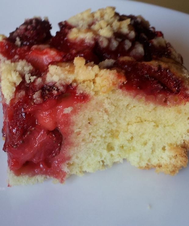 Ciasto z rabarbarem, truskawkami - Inne