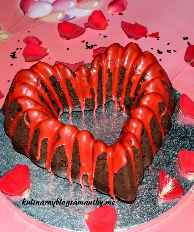Czekoladowe serce dla Walentynki - Babki
