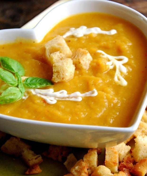 Zupa- krem z pieczonej dyni - Kremy