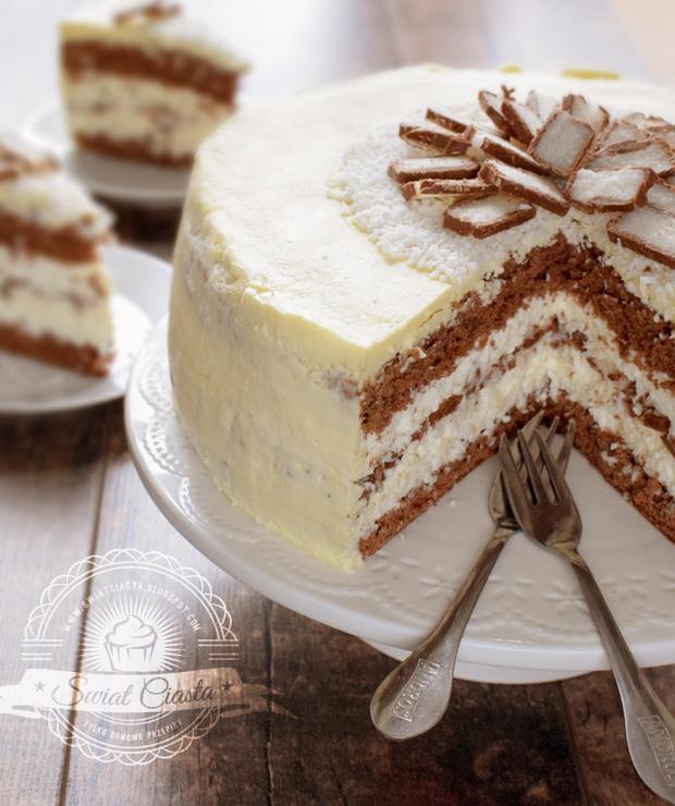 Ciasto Bounty z polewą z białej czekolady - Inne