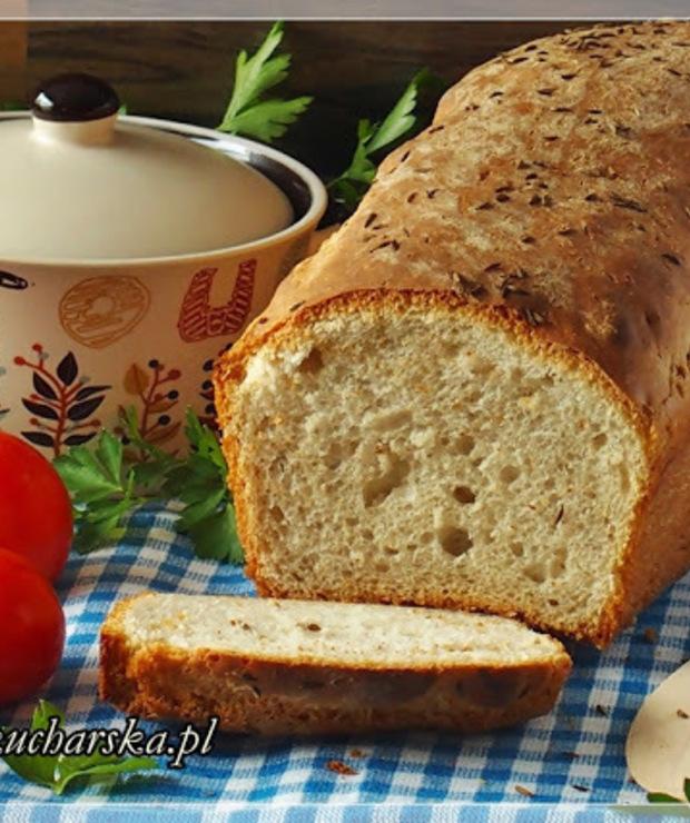 CHLEB PSZENNO-ŻYTNI - szybki i chrupiący z foremki - Chleby
