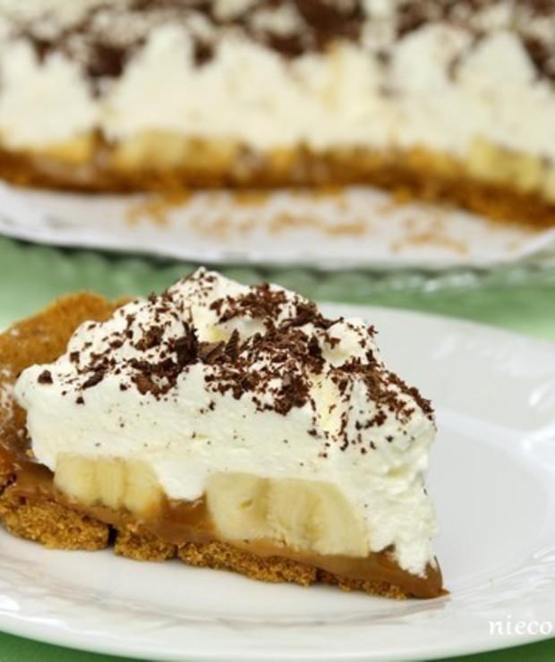 Ciasto z bananami – banoffee - Bez pieczenia