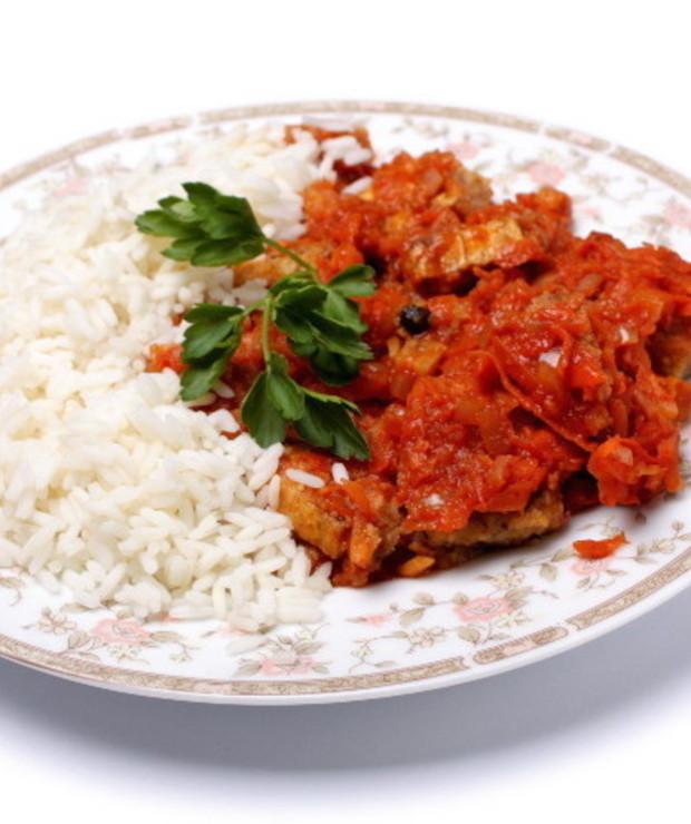 Tofu po grecku czyli ryba bez ryby - Dania z ryżu i kaszy