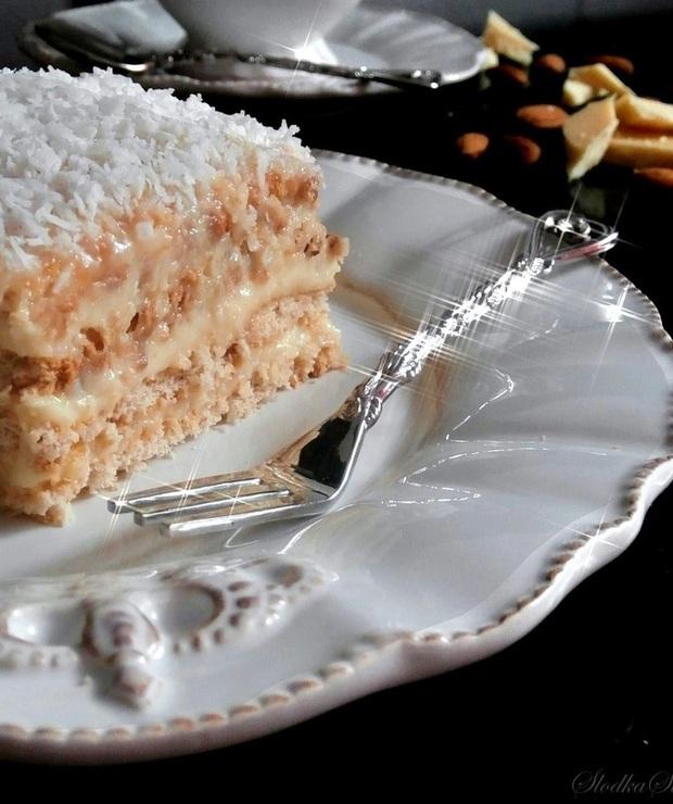 """Kokosowe Ciasto """"Rafaello"""" Bez Pieczenia - Bez pieczenia"""