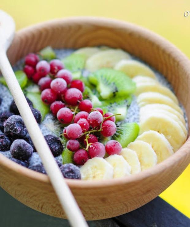 chia + mleko kokosowe + świeże i mrożone owoce - Inne