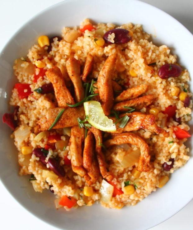Kolorowa kasza bulgur - Dania z ryżu i kaszy