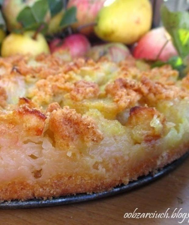 Kruche ciasto jabłkowo-gruszkowe - Kruche