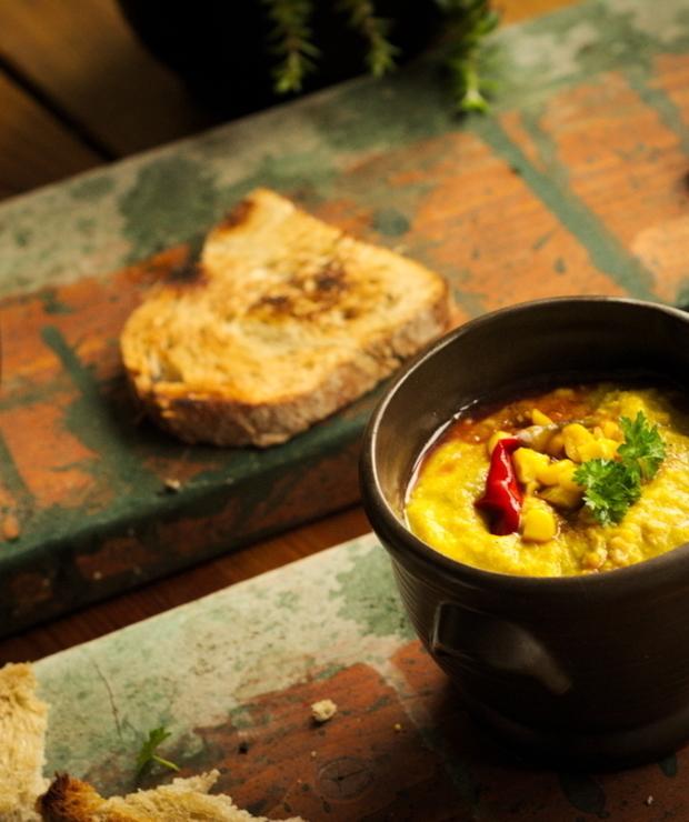 Zupa z kukurydzy z imbirem. Rozgrzewająca zupa krem - Kremy