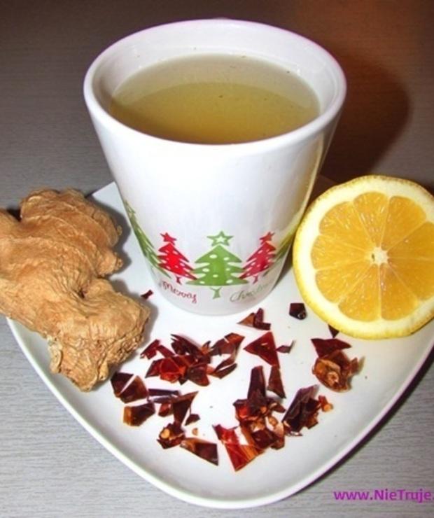 Zimowa, rozgrzewająca i spalająca herbatka - Gorące