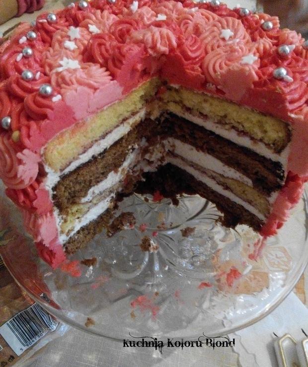 Tort urodzinowy mojej Mamy - Torty