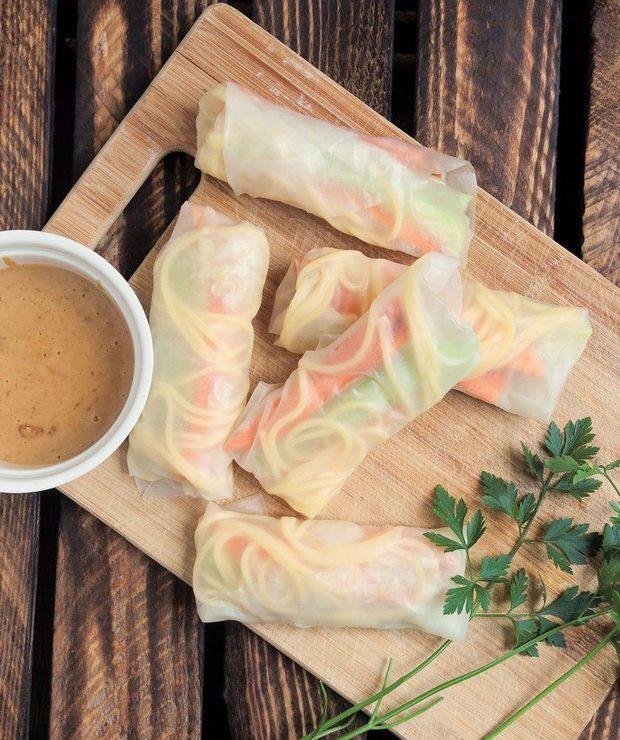 Szybkie spring rolls z sosem orzechowym - Inne