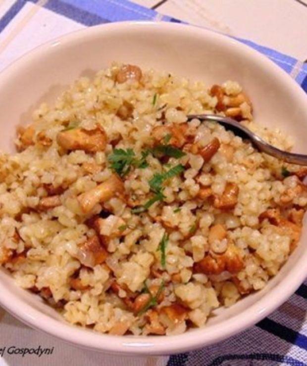Kasza bulgur z kurkami - Dania z ryżu i kaszy