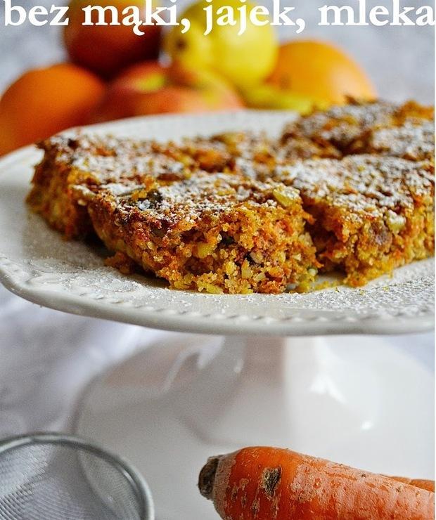 Ciasto marchewkowe bez cukru, jajek, mąki, mleka, wegańskie i bezglutenowe - Inne