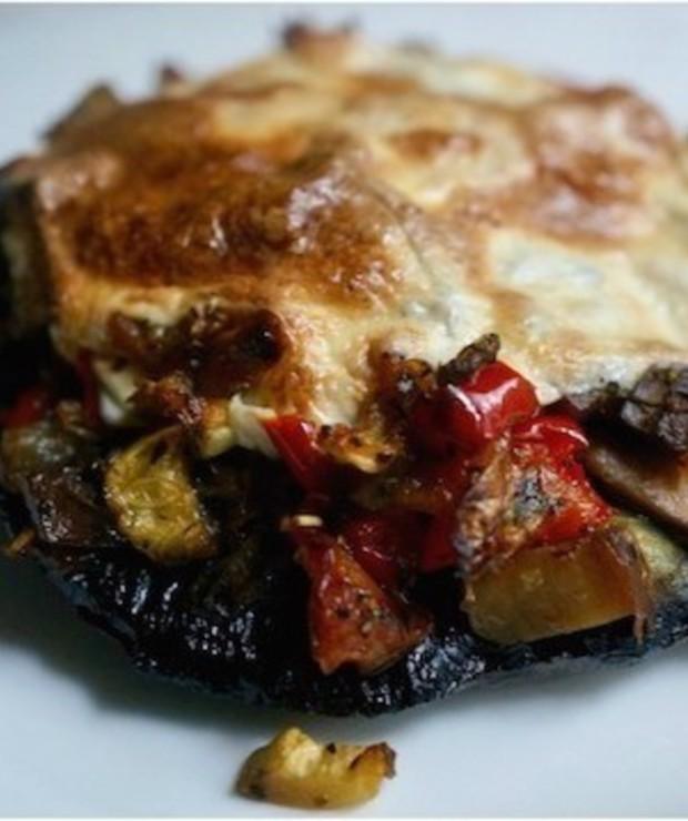 Portobello Nadziewane Warzywami z Mozzarellą - Na gorąco