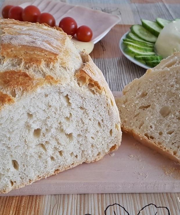 Chleb pieczony w garnku - Chleby