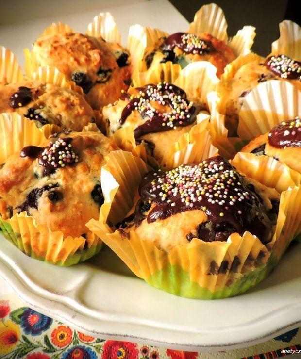 MUFFINKI Z CZEKOLADĄ I BORÓWKAMI AMERYKAŃSKIMI - Muffiny i babeczki
