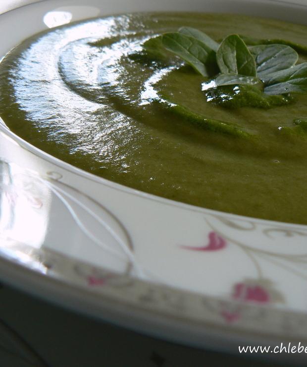 Zupa-krem ze szpinaku z mleczkiem kokosowym - Kremy