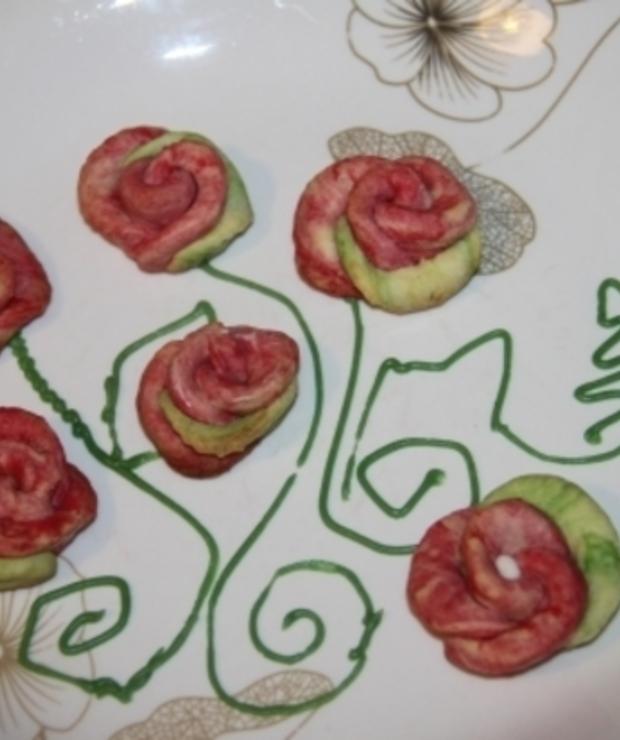 Walentynkowe kwiatki - Ciastka