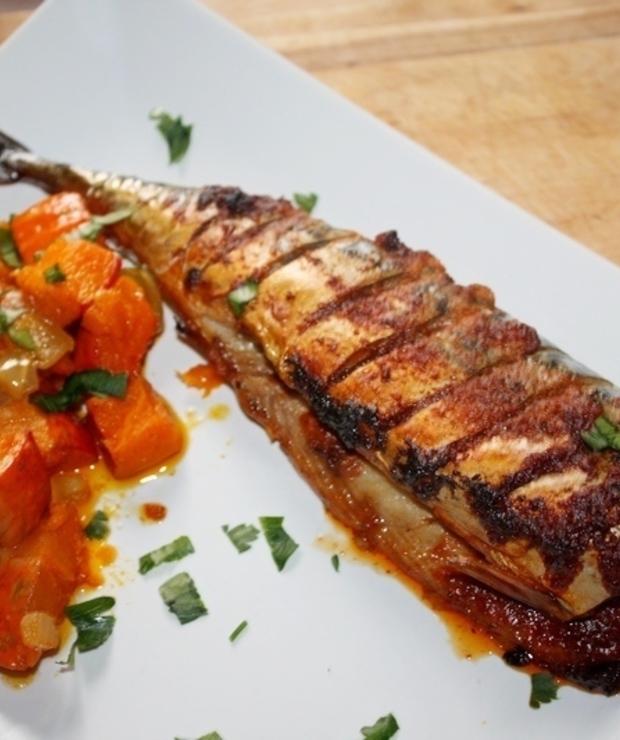 Pieczona makrela po kreolsku - Makrela