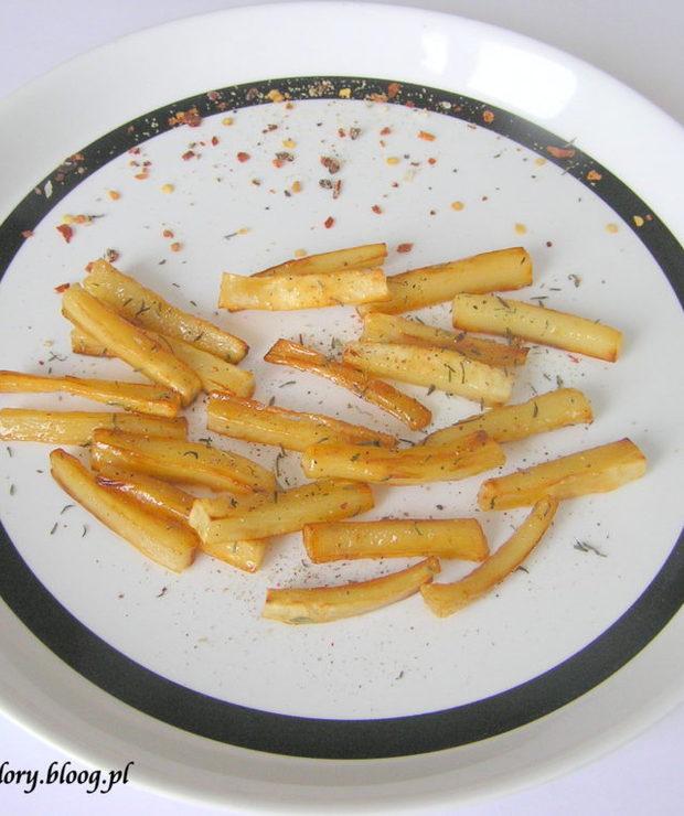 Frytki z pasternaku z miodem - Warzywa